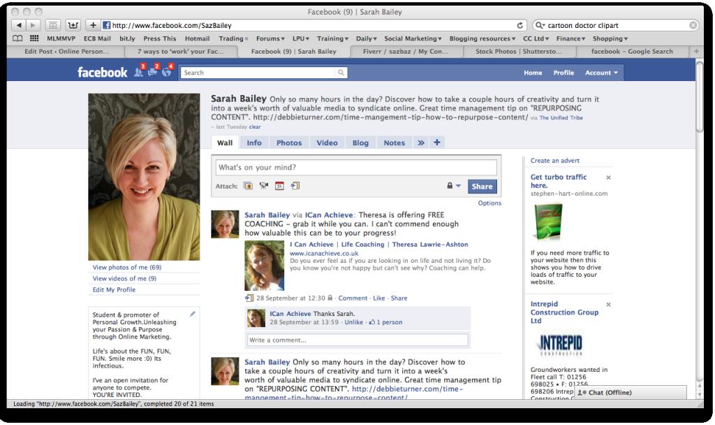 Saz Baileys' Facebook Profile
